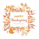 Flat design style Happy Thanksgiving card template Stock Images