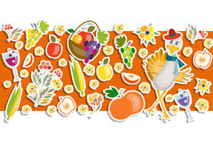 Flat design style Happy Thanksgiving Day background Stock Photography