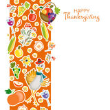 Flat design style Happy Thanksgiving Day background Royalty Free Stock Photography