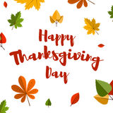 Flat design style Happy Thanksgiving Day banner. Royalty Free Stock Photo