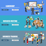 Flat design style modern vector illustration concept for corporate leadership Stock Photo