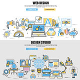 Flat design style modern vector illustration concept design studio Royalty Free Stock Photography