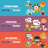 Flat design style modern vector illustration concept for internet casino Royalty Free Stock Photo