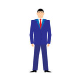 Flat design style modern vector illustration concept of successful businessan on white background Stock Photography