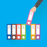 Flat design style modern vector illustration. document file Royalty Free Stock Images