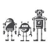 Flat design style robots and cyborgs. Stock Photos