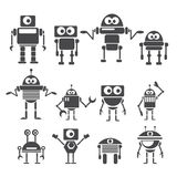Flat design style robots and cyborgs. Stock Photography