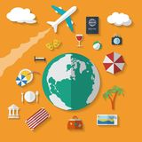 Flat design style vector icons set of vacation Stock Photos
