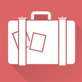 Flat design suitcase Stock Images