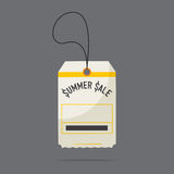 Flat design of summer sale price tag labels. Stock Photography