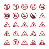 Flat Design Symbols Icons Set royalty free illustration