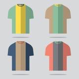 Flat Design T-Shirt Set Stock Photos