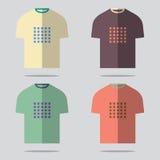 Flat Design T-Shirt Set Stock Photography