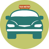 Flat design of Taxi Meter car Royalty Free Stock Images