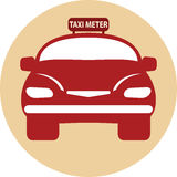 Flat design of Taxi Meter car Royalty Free Stock Photo