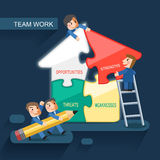 Flat design for team work concept Royalty Free Stock Photography