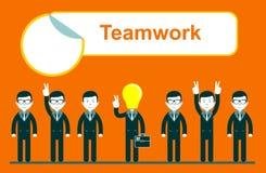Flat design for team work concept Stock Image