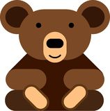 Flat design teddy bear icon royalty free stock images
