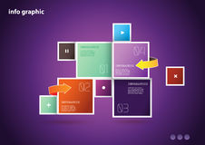 Flat design template Stock Photo