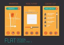 Flat design template Stock Photo