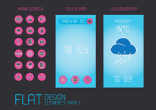 Flat design template for mobile devices Stock Images