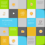 Flat design template Royalty Free Stock Photos