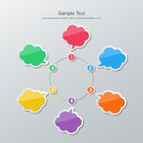 Flat design timeline infographics Royalty Free Stock Photography