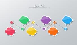 Flat design timeline infographics Royalty Free Stock Images