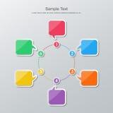 Flat design timeline infographics Stock Images