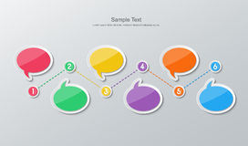 Flat design timeline infographics Stock Image