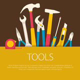 Flat design tools concept. Royalty Free Stock Images