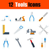 Flat design tools icon set Royalty Free Stock Image