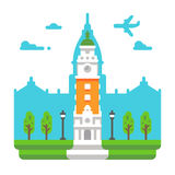 Flat design Torre Monumental. Illustration Stock Photos