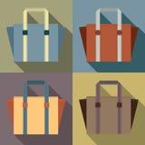 Flat Design Tote Bags Stock Image