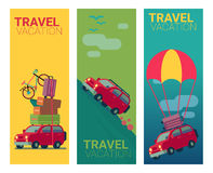 Flat design travel  banner vector illustration Stock Photo