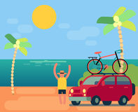 Flat design travel  banner vector illustration Royalty Free Stock Image