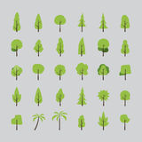 Flat design of tree set Royalty Free Stock Photography