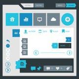 Flat design UI UX kit Stock Images