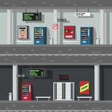 Flat design of underground subway Stock Photo