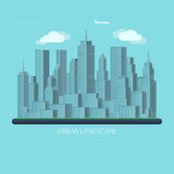 Flat design urban landscape vector illustration Stock Photo