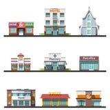 Flat design urban landscape vector illustration Stock Images