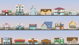 Flat design urban landscape vector illustration Stock Photography