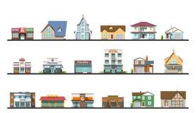 Flat design urban landscape vector illustration Royalty Free Stock Images