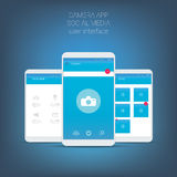 Flat design user interface for smart phone or Royalty Free Stock Image
