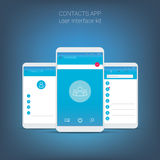 Flat design user interface for smart phone or Royalty Free Stock Photo