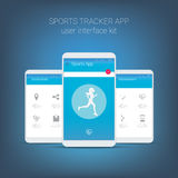 Flat design user interface for smart phone or Royalty Free Stock Photography