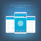 Flat design user interface for smart phone or Royalty Free Stock Images