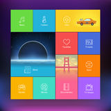 Flat Design User Interface Template Stock Images