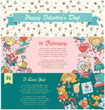 Flat design Valentines day love and romance icons banners set Stock Photo