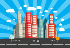 Flat Design Vector City Royalty Free Stock Photo